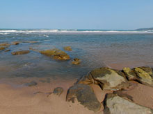 View at the Tugela River Mouth about 10 minutes walk on the beach